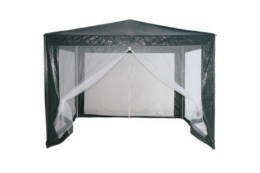 Павильон садовый 3х3 м зелёный, антимоскитная сетка шатер тент пасика