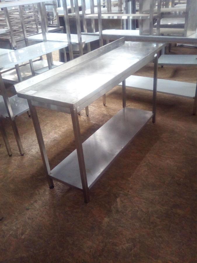 Стол производственный б/у из нержавеющей стали для кафе, столовой