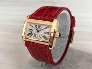Женские золотые часы Cartier Divan