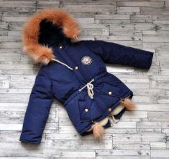 Зимняя куртка парка для девочки 98,104,110,116