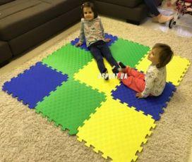 Детский игровой коврик-пазл татами развивающий для детей/игр/ползания