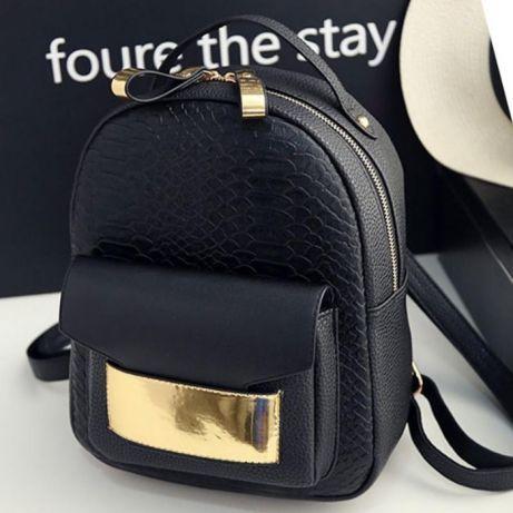 fb88577df871 Рюкзак женский городской для девушки кожзам черный эко кожа модный ...