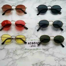 Новые солнцезащитные очки красные овальные узкие женские мужские oval