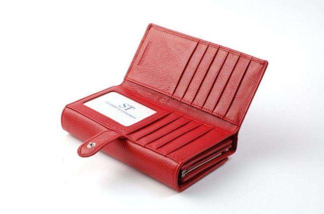 eb52ab84b3d5 Женский кожаный кошелек ST с визитницей натуральная кожа из турция ...
