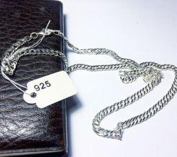 Срібний чоловічий ланцюжок / Серебряная мужская цепочка (925 проба)