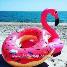 В наличии! Надувной круг пончик, надувной матрас фламинго, единорог
