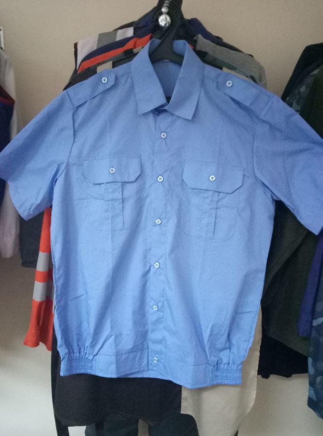 109efdeb7c3 Рубашка форменная мужская голубая