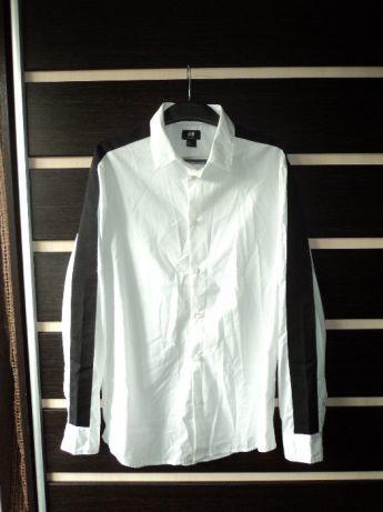 36c0cf8c2d51168 Мужская рубашка с лампасами размер L, 50, белая, с нашивками хит ...
