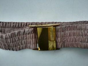 Пояс-резинка (ремень)из плащевки кофейного цвета с пряжкой