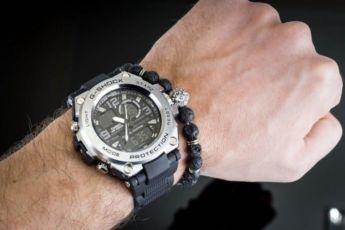 Мужские спортивные наручные часы Casio G-Shock G-Steel Gray копия