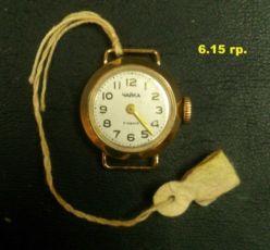 Золотые часы чайка 17 камней, 750 проба