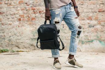 Женский кожаный рюкзак, городской портфель сумка для ноутбука