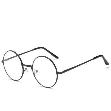fddf743abef Очки для имиджа круглые, прозрачные, черные, гогглы