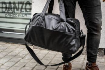 4e990b56551d ... Сумка мужская кожаная mod.RollingStone черная дорожная сумка рюкзак 6  ...