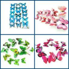 Декоративные наклейки бабочки 3d, для штор, на холодильник, стену