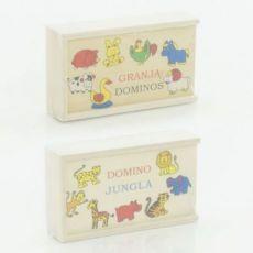 Деревянная игра Домино для малышей детей животные деревянное домино