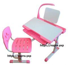 Детская парта растишка, стул, лампа, подставка, детский стол