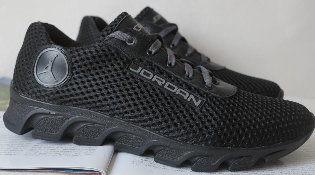 0a676e26 Летние черные мужские кроссовки Jordan! сетка кожа весна лето: 700 ...