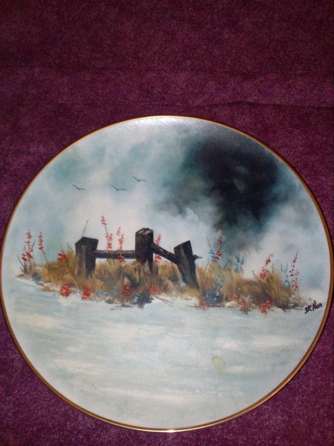 Декоративная коллекционная фарфоровая тарелка