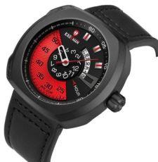 Часы KADEMAN Relogio Masculino кварцевые кожаные водонепроницаемые