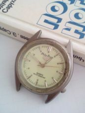 Часы Philip persio (кварц), с фосфорным циферблатом, винтаж