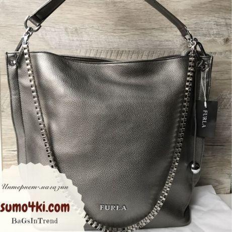 b49fc0ef4b82 Женская стильная сумка Furla Фурла черная марсала бронза: 1 350 грн ...
