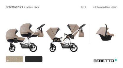 Коляски для двойни. Нові дитячі коляски для двійні - Bebetto 42