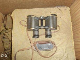 Бинокль с серпом и молотом 1939 г. 6х30. Оптика не повреждена!