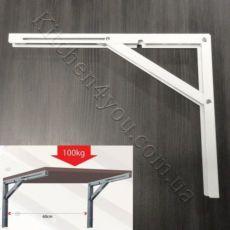 Консоль 400 мм. белая для откидного стола или полки.