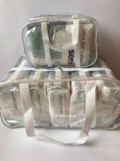 Прозрачные сумки сумка в роддом Польша. Набор 2 сумочки или по шт.