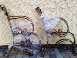 Скамейка садовая для дачи боковины кованые изделия,лавка,лавочка,стол