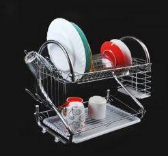 Сушка для посуды двухуровневая нержавейка
