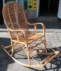Меблі з лози, кресло-качалка, крісло гойдалка, крісло качалка, плетене