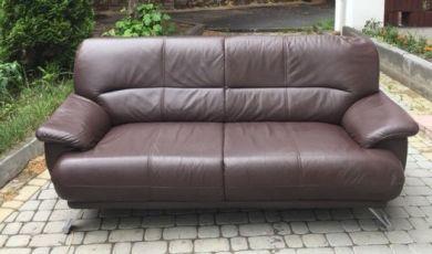 Продам кожаный диван б/у с Германии