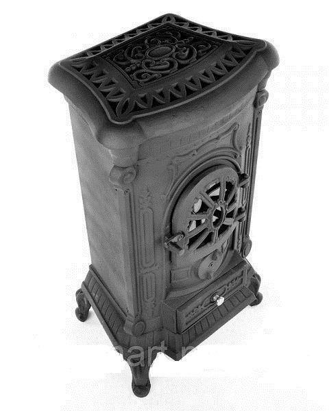 Камин печь буржуйка чугунная Bonro Black double wall 9 кВт