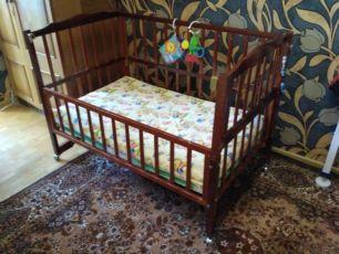 Детская кроватка Dinosaur + матрас Венетто