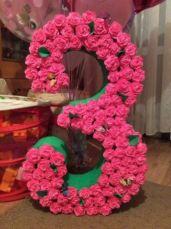 Объемная цифра 3 (три) на День Рождения, фотосессию