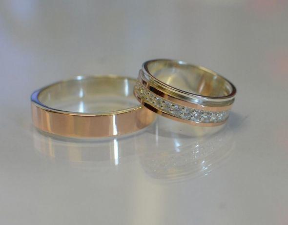 dab86174bb17 Обручальные кольца-золото и серебро. В честь 8 марта всем подарок ...