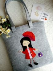 Женская сумка,сумка,сумочка,из фетра
