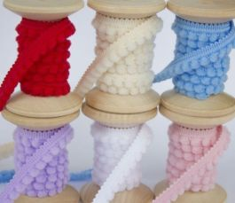 Тесьма с помпонами Тесьма декоративная Лента для бантиов. Помпон