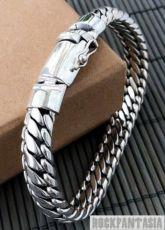 Серебряный мужской браслет панцирный, срібний браслет чоловічий