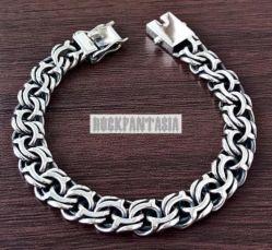 Серебряный мужской браслет Бисмарк с чернением, срібний браслет