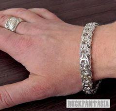 Серебряный мужской браслет Кардинал, срібний чоловічий браслет срібло
