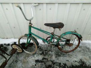 детский ретро станинный велосипед СССР