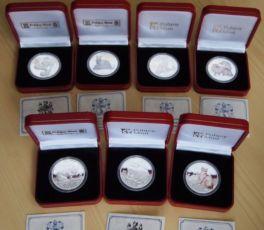 Продам серебряные монеты Кошки 1 крона 31,1 гр остров Мэн