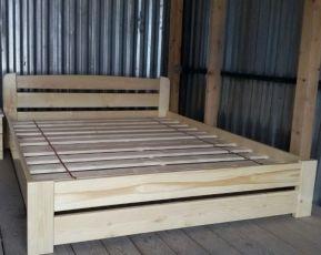 Кровать Деревянная Рич 140х190см. Двуспальная Кровать из Сосны