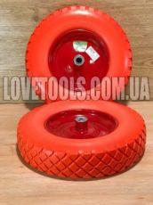 Колесо полиуретановое 4.80/4.00-8 колеса для тачки тележки бескамерное