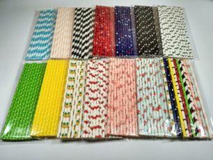 Бумажные трубочки для кенди бара, вечеринок много цветов!