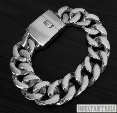 Серебряный мужской браслет панцирный массивный большой