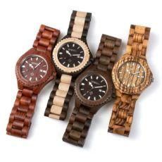 Мужские деревянные наручные часы Bewell, ручной работы, часы из дерева